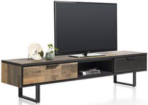 Henders & Hazel Avalon tv-dressoir 200 cm. - 2-laden + 1-niche - driftwood  Tv-dressoir