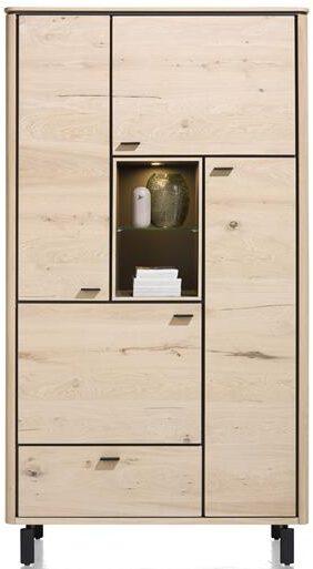 Henders & Hazel Livada bergkast 110 cm. - 4-deuren + 1-lade + 2-niches - natural  Kast