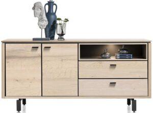 Henders & Hazel Livada dressoir 180 cm. - 2-deuren + 2-laden + 1-niche - natural  Dressoir