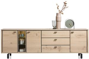 Henders & Hazel Livada dressoir 240 cm. - 3-deuren + 3-laden + 3-niches - natural  Dressoir