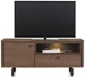 Henders & Hazel Livada lowboard 140 cm. - 1-deur + 1-klep + 1-niche - choco brown  Tv-dressoir