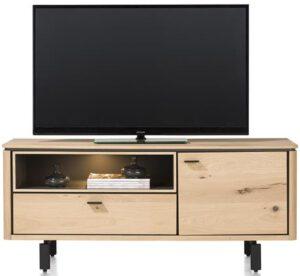 Henders & Hazel Livada lowboard 140 cm. - 1-deur + 1-klep + 1-niche - natural  Tv-dressoir