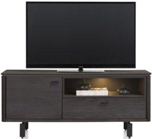 Henders & Hazel Livada lowboard 140 cm. - 1-deur + 1-klep + 1-niche - onyx  Tv-dressoir