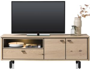 Henders & Hazel Livada lowboard 170 cm. - 2-deuren + 1-klep + 1-niche - natural  Tv-dressoir
