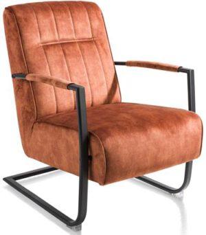 Henders & Hazel Northon fauteuil met swing-frame metaal zwart  Fauteuil
