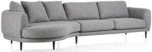 Henders & Hazel Portland lounge end inclusief 3 kussens big - rond - links  Bank