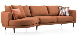 Henders & Hazel Portland lounge end - small - inclusief 2 kussens big - rond - links  Bank