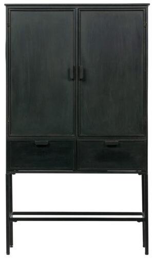 Wish 2-deurs Kast Metaal - Zwart uit de Opbergen collectie van BePureHome bij Löwik Meubelen