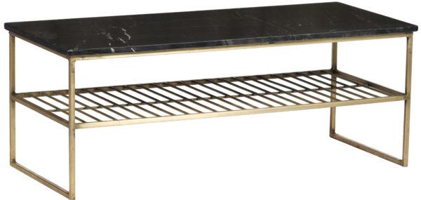 Livingfurn Salontafel Dian Marble Black Gold 90cm  Salontafel