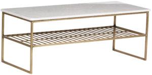 Livingfurn Salontafel Dian Marble White Gold 90cm  Salontafel