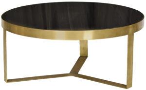 Livingfurn Salontafel Glennis Marble Black Gold 80cm  Salontafel