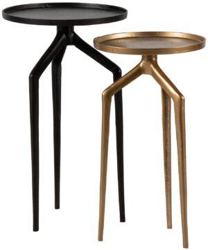 Mosquito Bijzettafel Metaal Zwart/antique Brass uit de BePureHome collectie