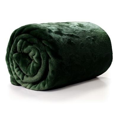 Pronto Wonen Plaid Enizio 130x180 dark green  Woonaccessoire