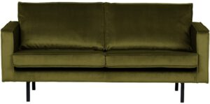 Rodeo Bank 2,5-zits Velvet Olive uit de BePureHome collectie