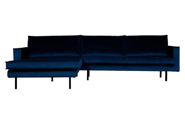 Rodeo Chaise Longue Links Velvet Dark Blue Nightshade uit de BePureHome collectie