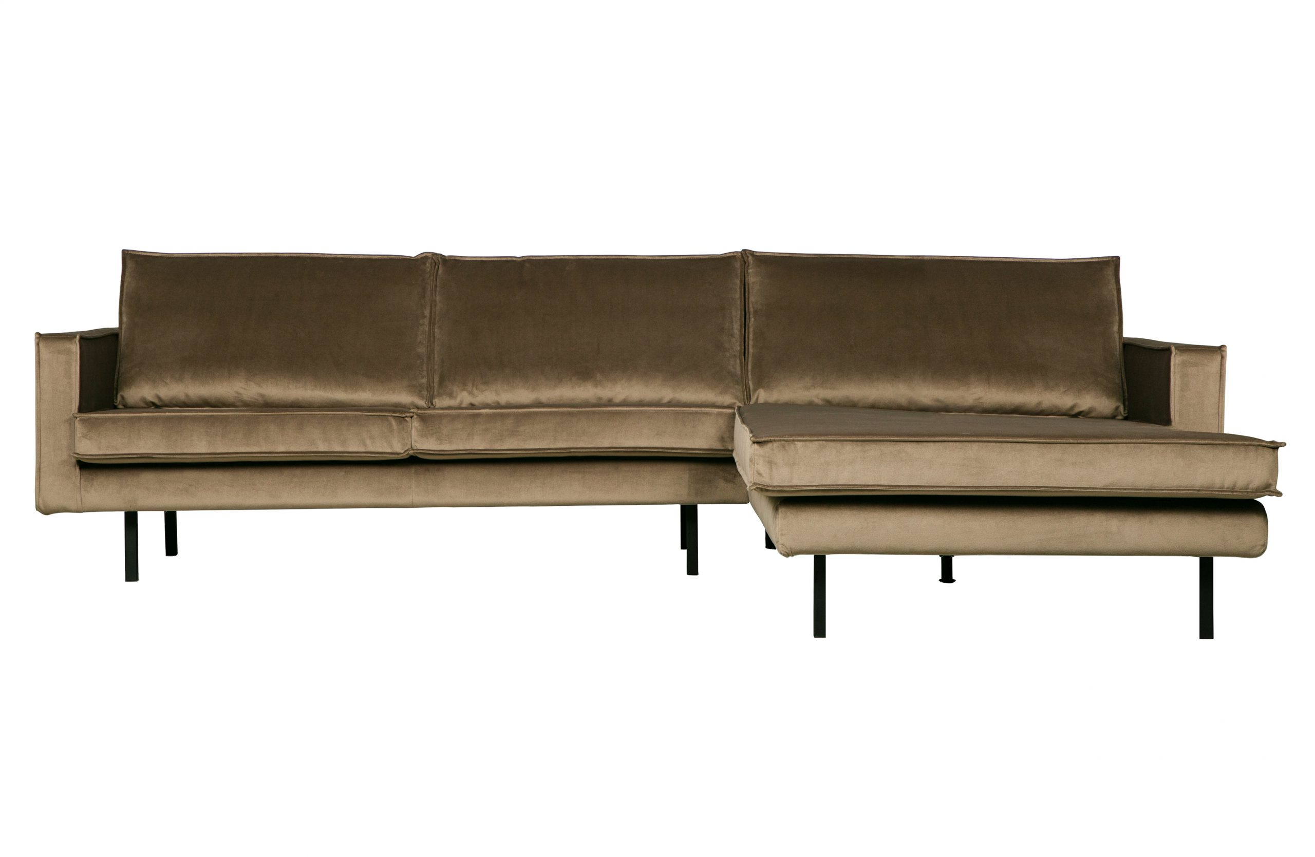 Rodeo Chaise Longue Rechts Velvet - Taupe