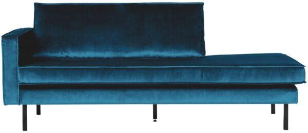 Rodeo Daybed Left Velvet Blue uit de BePureHome collectie