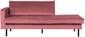 Rodeo Daybed Left Velvet Pink uit de BePureHome collectie