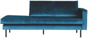 Rodeo Daybed Right Velvet Blue uit de BePureHome collectie