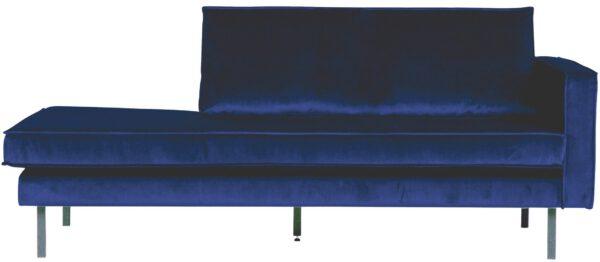 Rodeo Daybed Right Velvet Dark Blue Nightshade uit de BePureHome collectie