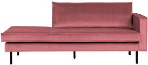 Rodeo Daybed Right Velvet Pink uit de BePureHome collectie