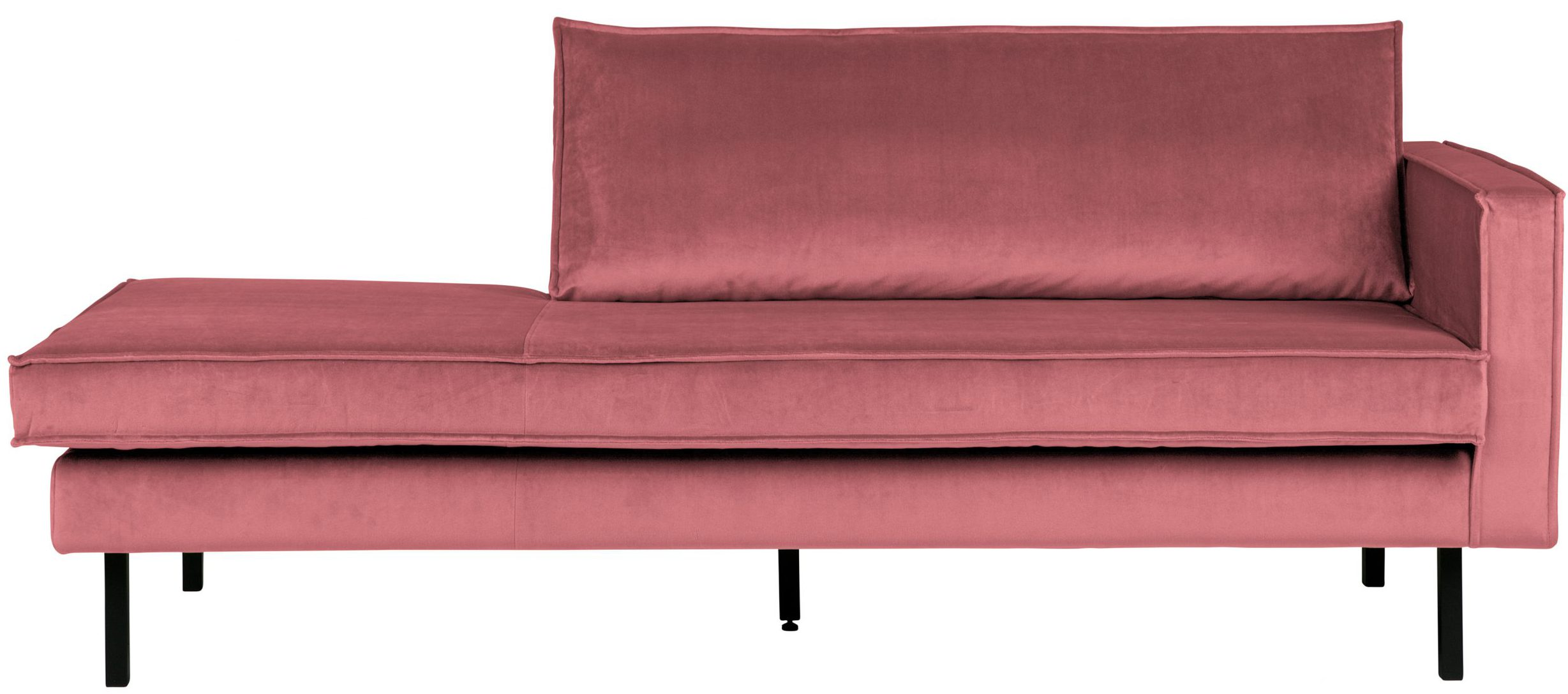 Rodeo Daybed Right  Velvet - Pink