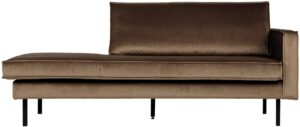 Rodeo Daybed Right Velvet Taupe uit de BePureHome collectie
