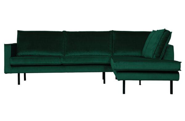 Rodeo Hoekbank Rechts Velvet Green Forest uit de BePureHome collectie