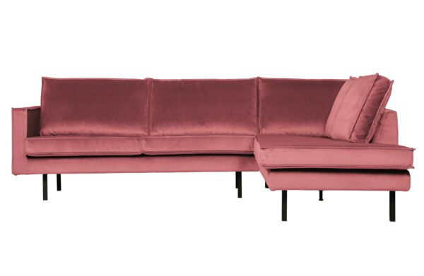 Rodeo Hoekbank Rechts Velvet Pink uit de BePureHome collectie