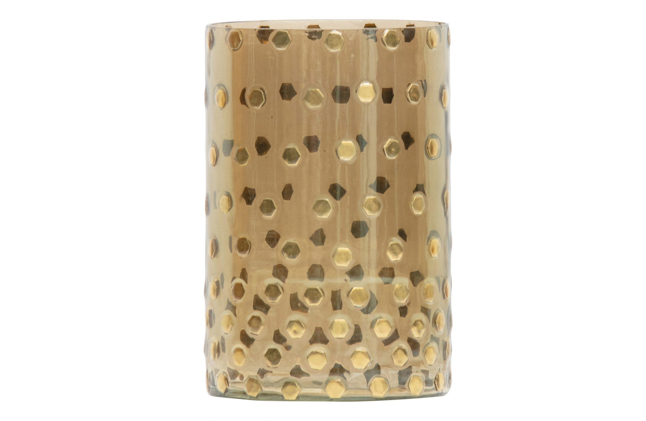 Shimmer Glazen Licht Antique BrassØ13cm