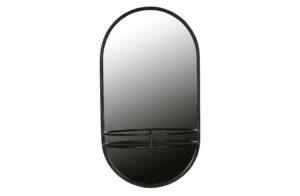 Make-up Spiegel Metaal - Zwart uit de Accessoires collectie van BePureHome bij Löwik Meubelen