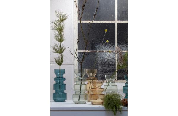 Expressive Vaas Glas Geel 37xØ15 uit de Accessoires collectie van BePureHome bij Löwik Meubelen