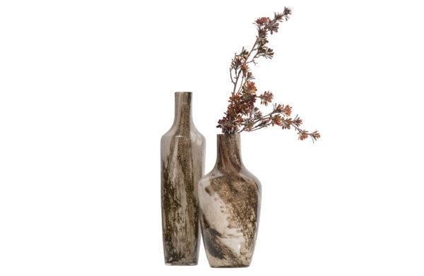 Saffier Vaas Glas 49xØ12cm uit de Accessoires collectie van BePureHome bij Löwik Meubelen