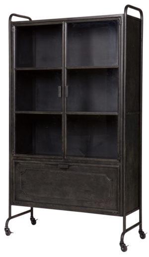 Steel Storage Vitrinekast Metaal - Zwart uit de Opbergen collectie van BePureHome bij Löwik Meubelen