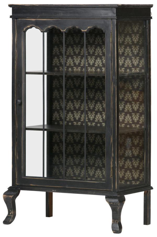 Odd Vitrinekast Hout - Zwart uit de Opbergen collectie van BePureHome bij Löwik Meubelen