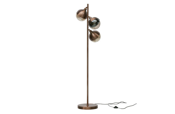 Split Staande Lamp Metaal - Brown Brush uit de Lampen collectie van BePureHome bij Löwik Meubelen