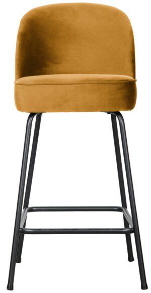 Vogue Barstoel 65cm Fluweel Mosterd uit de BePureHome collectie