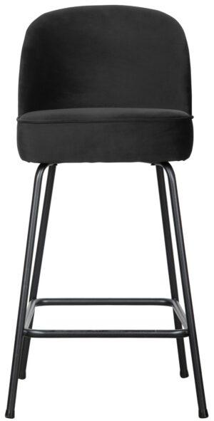 Vogue Barstoel 65cm Fluweel Zwart uit de BePureHome collectie
