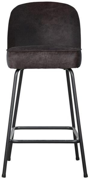 Vogue Barstoel 65cm Leer Zwart uit de BePureHome collectie