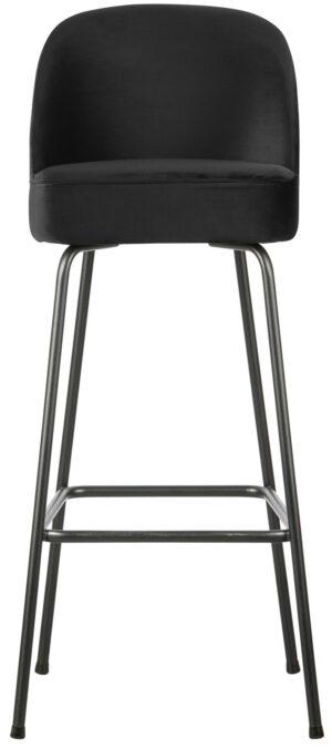 Vogue Barstoel 80cm Fluweel Zwart uit de BePureHome collectie