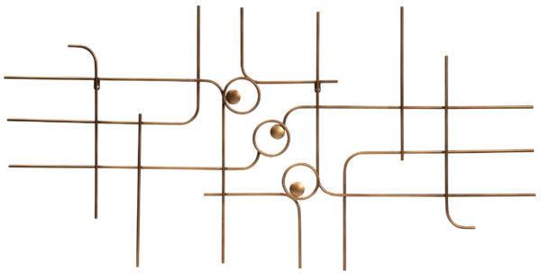 Symphony Wanddeco Metaal - Antique Brass uit de Accessoires collectie van BePureHome bij Löwik Meubelen