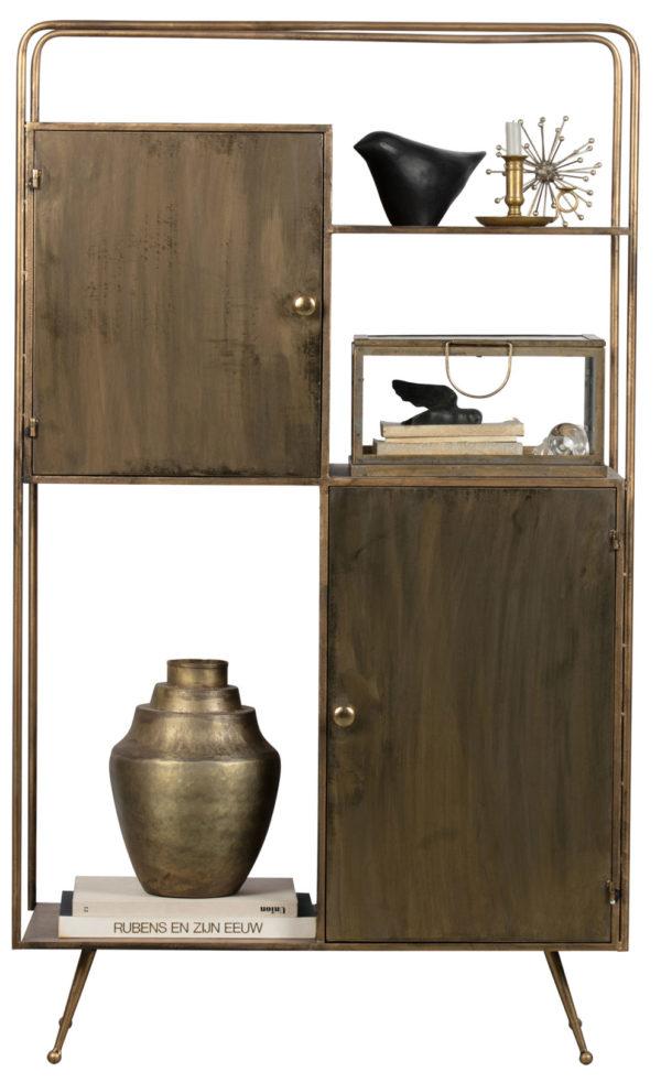 Chief Vakkenkast Metaal - Antique Brass uit de Opbergen collectie van BePureHome bij Löwik Meubelen