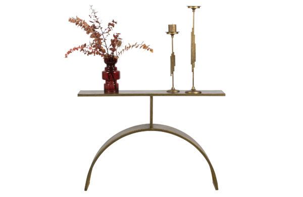 Altar Sidetable Metaal - Antique Brass uit de Tafels collectie van BePureHome bij Löwik Meubelen