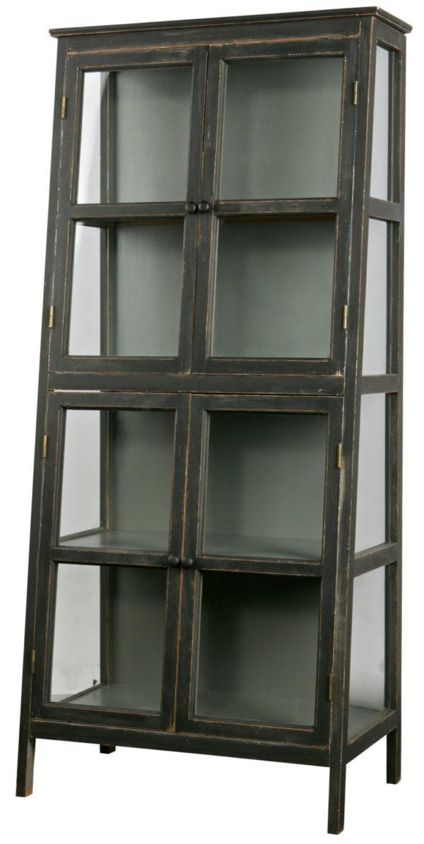 Herritage Houten Kast Schuin Zwart uit de Opbergen collectie van BePureHome bij Löwik Meubelen