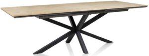 Xooon Belo uitschuiftafel met centrale poot 180 x 100 cm (+ 60 cm)  Eettafel