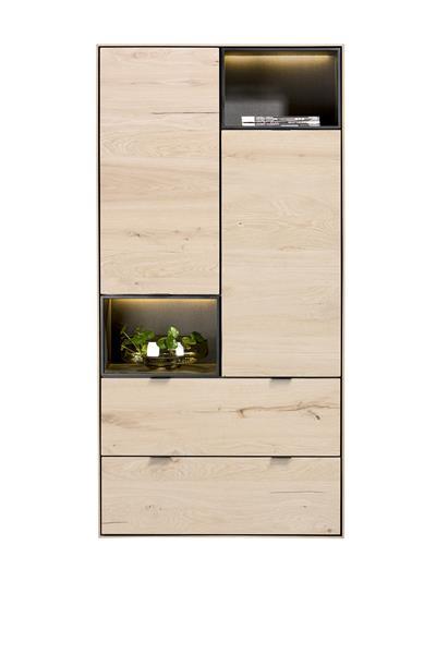 Xooon Elements bergkast 90 cm. - 2-deuren + 2-laden + 2-niches + led - natural  Kast