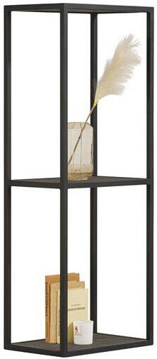 Xooon Elements boekenkast 120 cm. + 2-niches - onyx  Tv-dressoir