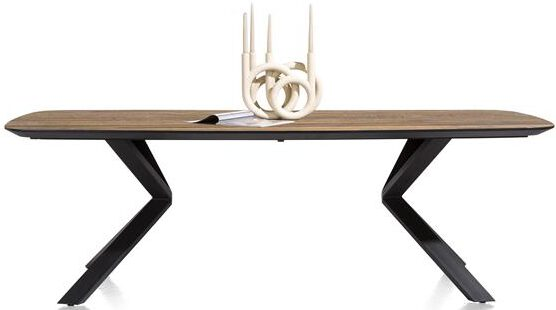 Xooon Fresno eetkamertafel 240 x 110 cm. - fineerrichting recht  Eettafel