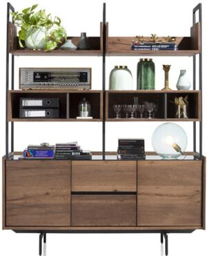 Xooon Halmstad buffet 160 cm 2-deuren + 2-laden + 6-niches  Kast