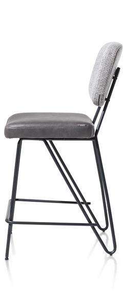 Xooon June barstoel - frame off black + pocketvering  Eetkamerstoel